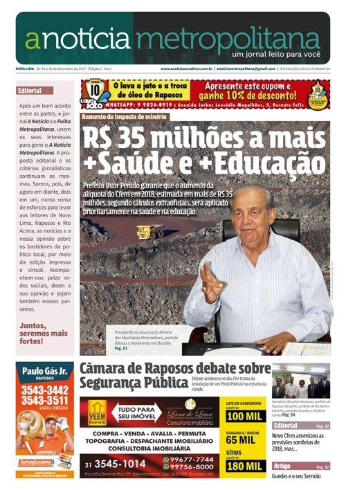jornal a notícia metropolitana - edição 1-web