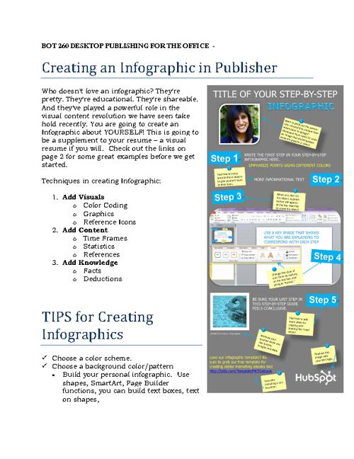 BOT 206 Desktop Publishing for the Office