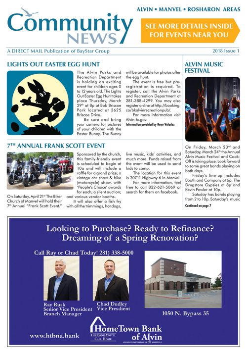 Alvin-Manvel-Rosharon Community News 2018 Issue 1
