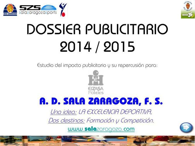 DOSSIER PUBLICITARIO 2014_15 EIZASA HOTELES