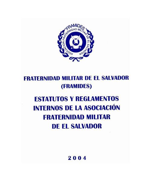 ESTATUTOS Y REGLAMENTOS INTERNOS DE FRAMIDES