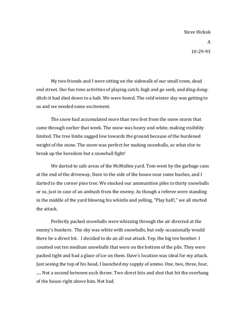 Revised Short Story