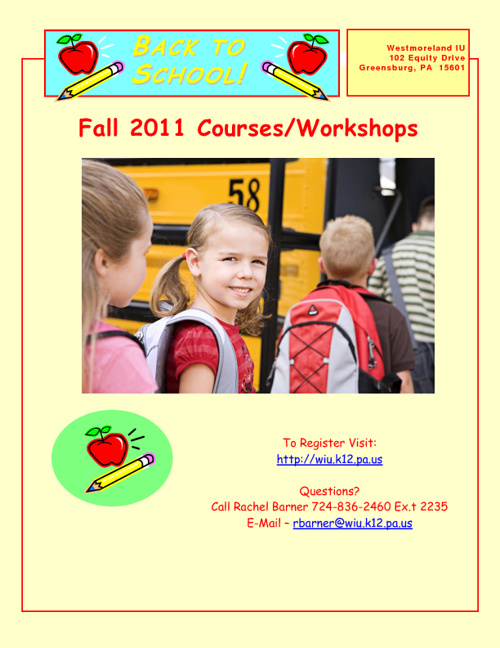 September Courses/Workshops