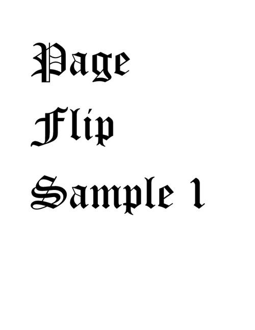 Page Flip Sample