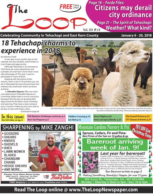 The Loop Newspaper Vol 33 No 13 Jan 6 to 20, 2018