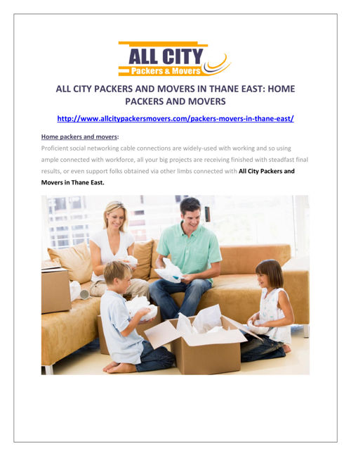 AllCity Packers & Movers in Thane East:Home Packers & Movers