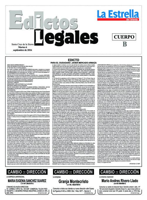 Judiciales 6 martes - septiembre 2016