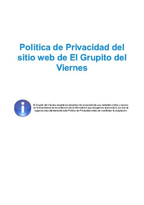 Política de Privacidad (Web)