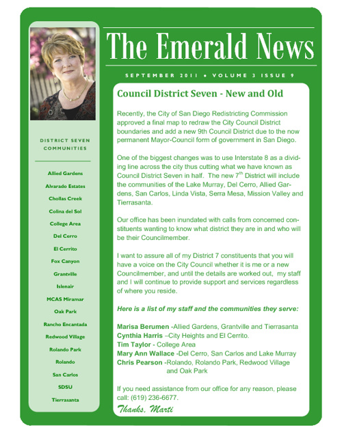 The Emerald News: Volume 3, Issue 9 (September 2011)