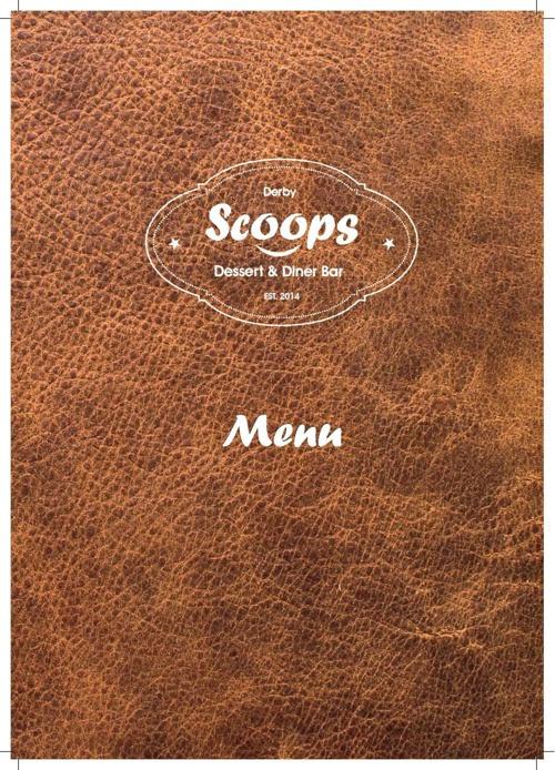 Menu - Scoops Diner & Dessert Bar - Derby