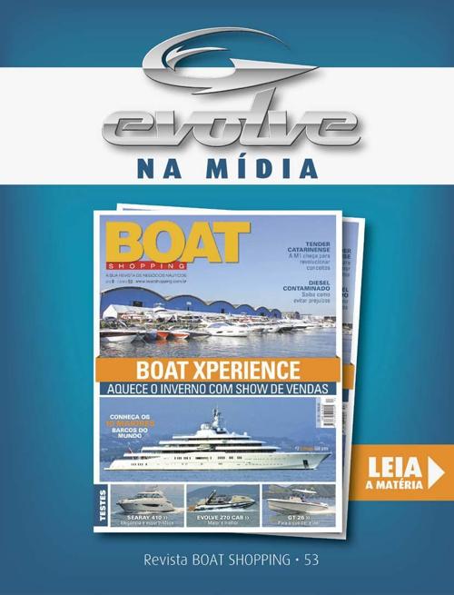 EVOLVE 270 CAB na Revista Boat Shopping 53