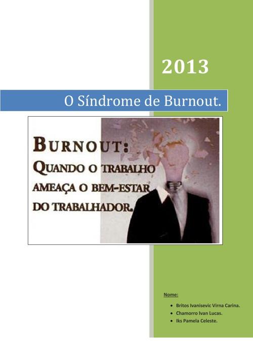 O Sindrome de Burnout