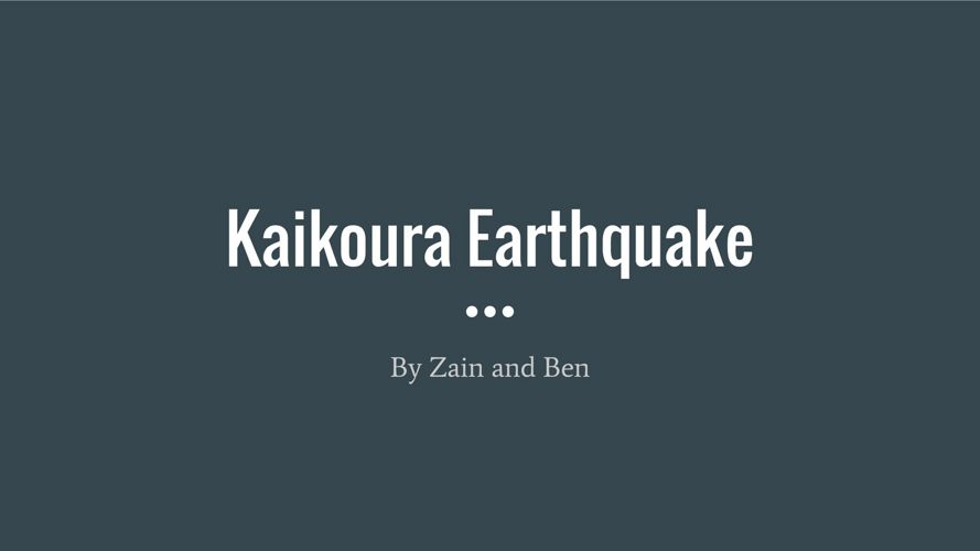 Earthquake In Kaikoura (1)