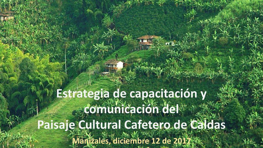 Estrategia de capacitación y comunicación del PCC (Caldas)