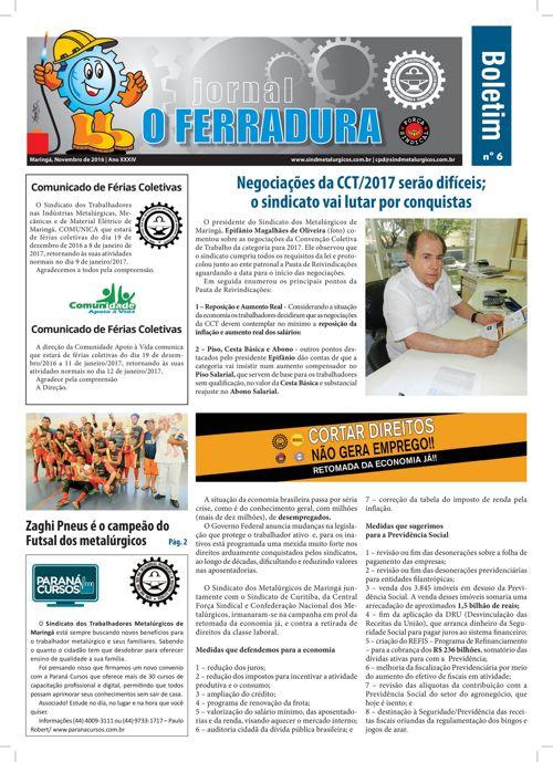 Jornal o Ferradura Novembro 2016