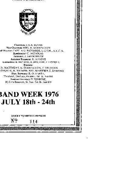 Band Week 1976