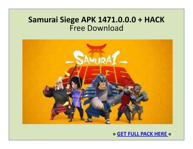 Samurai Siege APK 1471.0.0.0 + HACK | FREE DOWNLOAD
