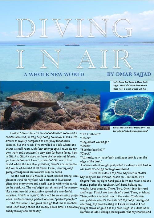 Diving in Air