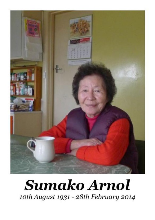 Memorial Card for Sumako Arnol