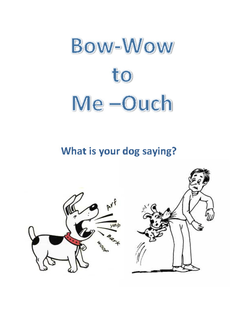 Bow-Wow to Me-Ouch