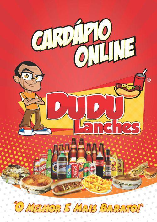 DUDU LANCHES CARDÁPIO ONLINE