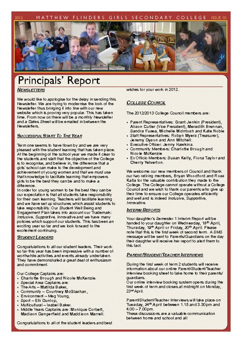 Newsletter - Flinders News 03-12