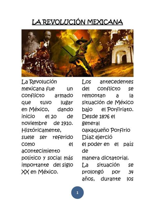 Copy of LA REVOLUCIÓN MEXICANA