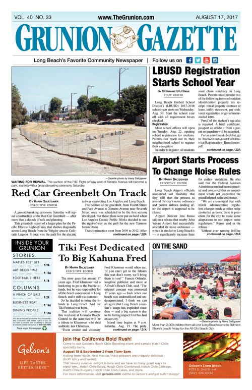 Grunion Gazette  |  August 17, 2017