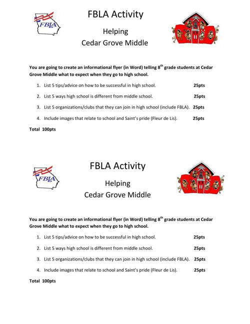 FBLA Activity-Flyer Middle School