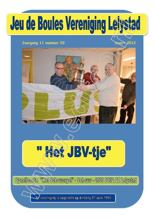 JBV-tje van Maart