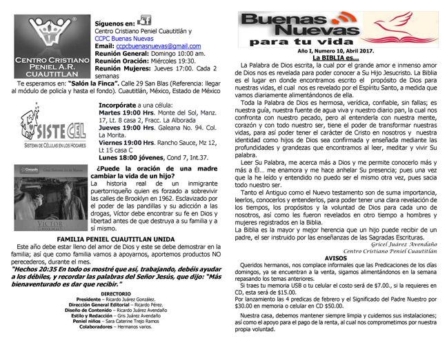 CCPeniel Cuautitlan Boletin mensual Abril 2017
