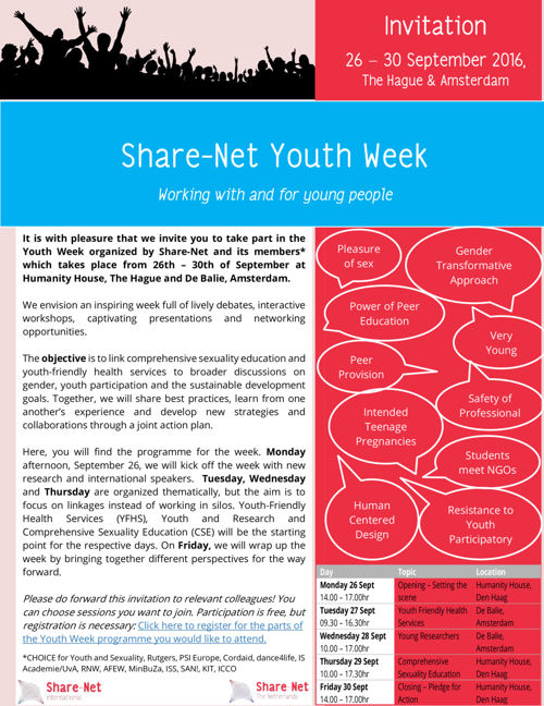 Final Programme Share-Net Youth Week 2016