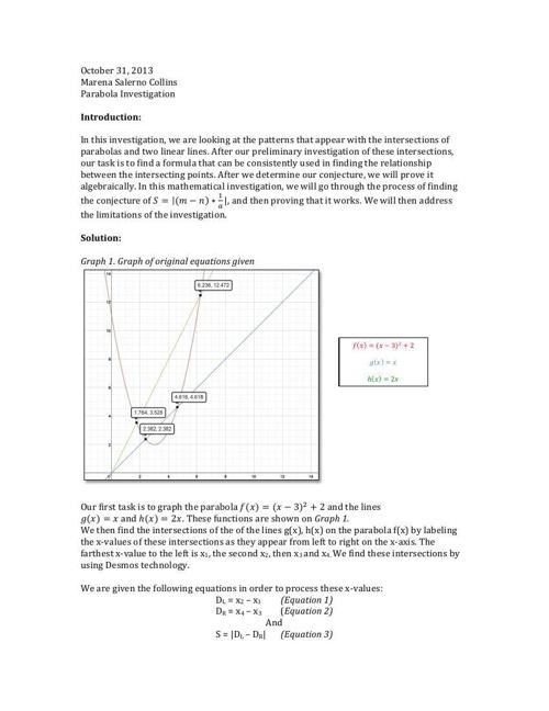 Final Math Portfolio October 2013