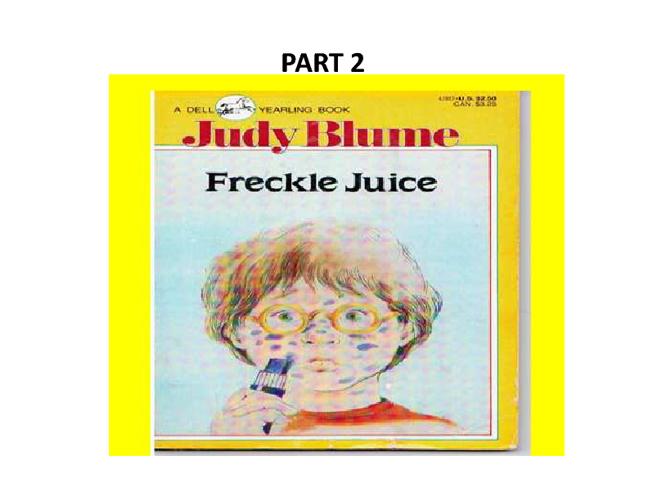 Freckle Juice 2