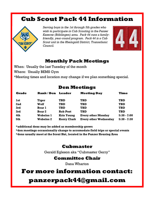 Pack 44 Information Book