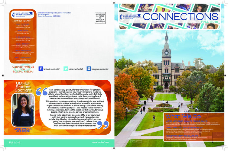 UMHEF Fall Newsletter 2016