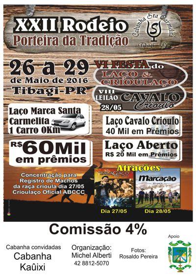 Catálogo Leilão Cavalo Crioulo Cabanha Santa Carmelita 2016