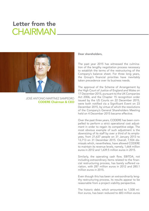 0. LETTER FROM THE CHAIRMAN