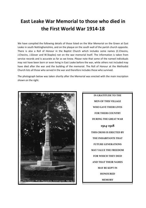 East Leake War Memorial info PDF (1)