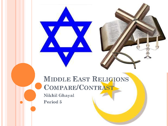 Middle East Religions Compare/Contrast- Nikhil Ghayal 5