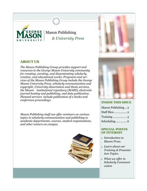 Mason Publishing News