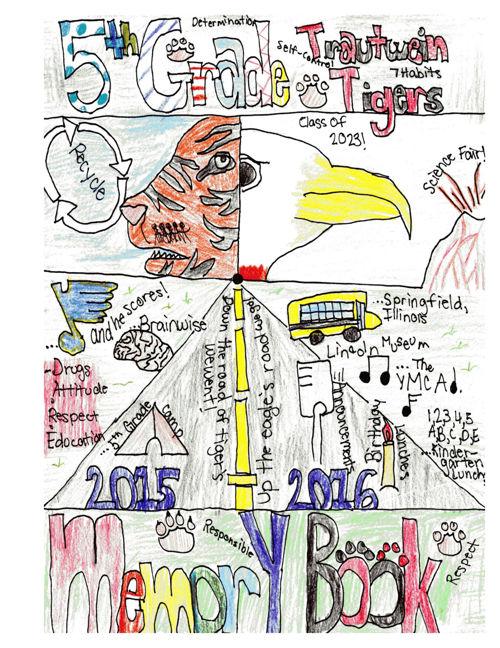 Trautwein Elementary 5th Grade Memory Book 2016