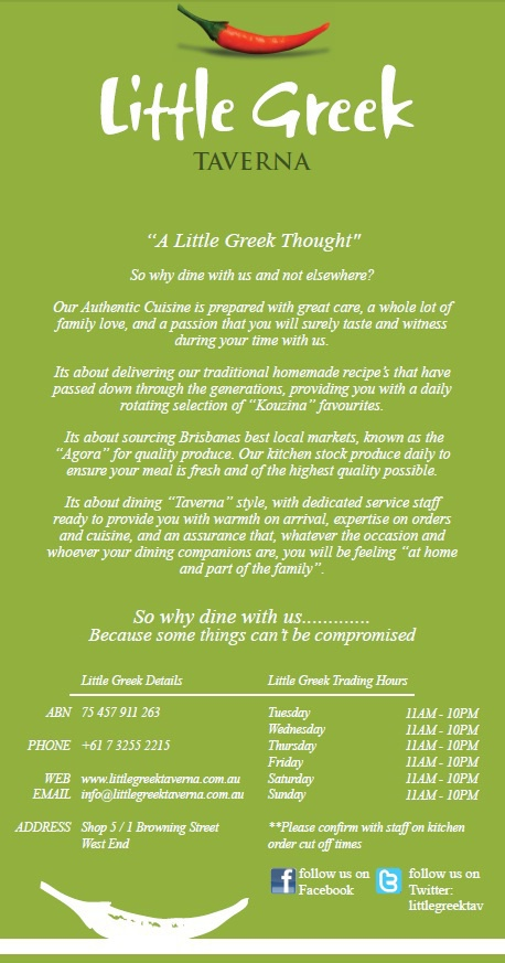 Little Greek Taverna - Online Menu