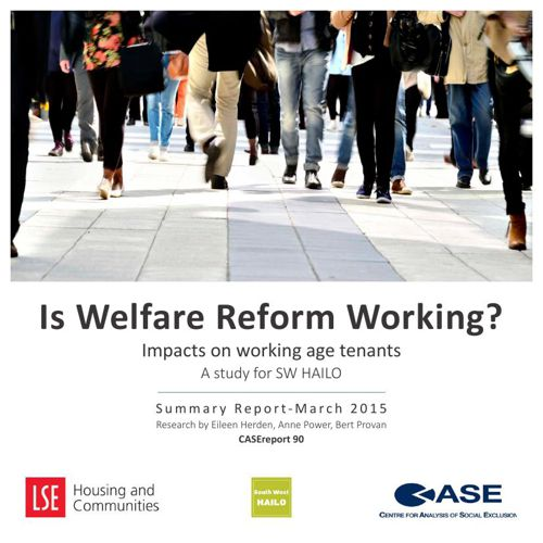 Summary report: Is Welfare Reform Working? Impacts on working ag