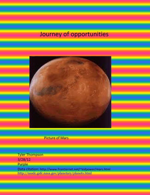 Journey of opportunities