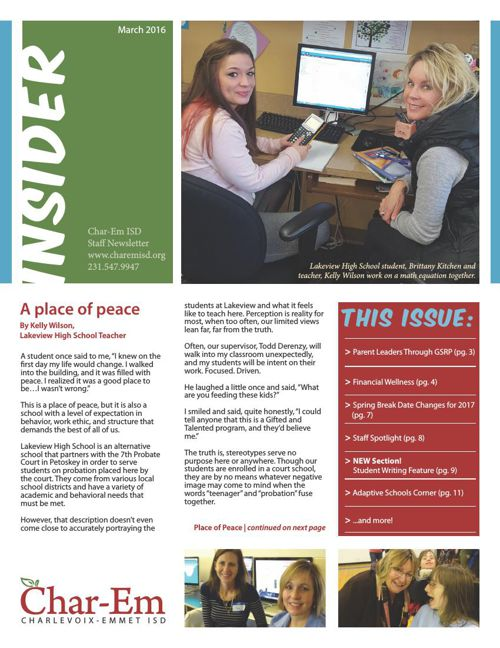 Char-Em ISD Insider Staff Newsletter_March 2016