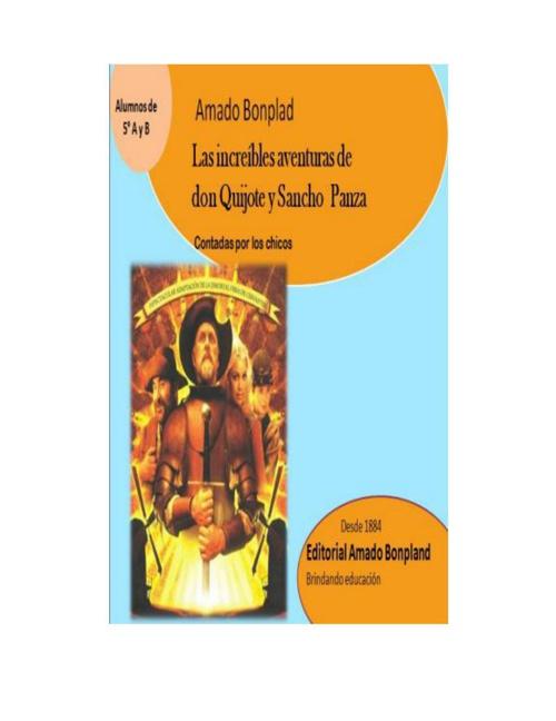 Las increíbles aventuras de Don Quijote y Sancho Panza