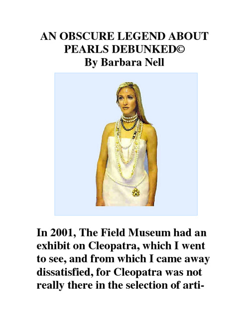 An Obscure Legend about Pearls (C)