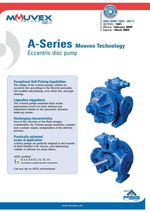 Mouvex A Series Pump Spec Sheet