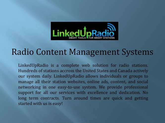 Radio Content Management Systems